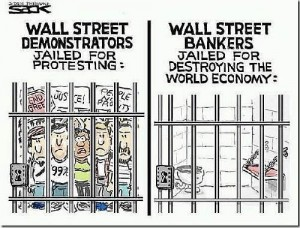 Jailed-protesters-vs-jailed-bankers-editorial-cartoon-300x228