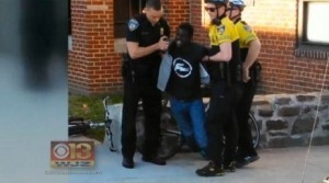 Freddie Gray being arrested in Baltimore for no known reason