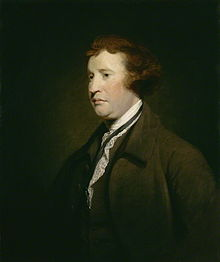 Edmund Burke, 1723 - 1792. MP and supporter of the American Revolution