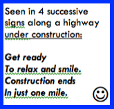 Highway Constuction Sign