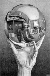 Hand with Reflecting Sphere, M.C. Escher, 1935